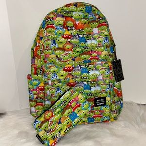 Pixar Toy Story Alien Outfits Backpack & Pouch NWT